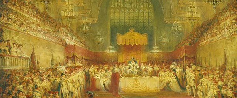 Image credit: George IV coronation banquet via Wiki